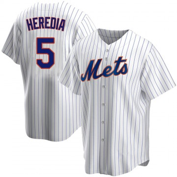 Men's Guillermo Heredia New York Mets Replica White Home Jersey