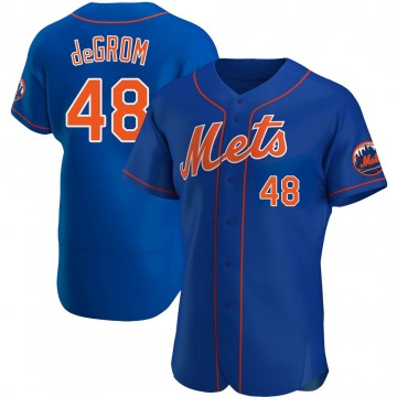 Men's Jacob deGrom New York Mets Authentic Royal Alternate Jersey