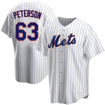 Men's Tim Peterson New York Mets Replica White Home Jersey