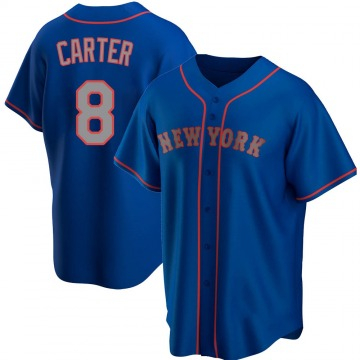 Youth Gary Carter New York Mets Replica Royal Alternate Road Jersey