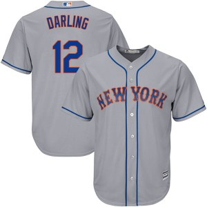 Men's Majestic Ron Darling New York Mets Authentic Gray Cool Base Road Jersey