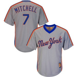 Youth Majestic Kevin Mitchell New York Mets Authentic Gray Cool Base Cooperstown Collection Jersey