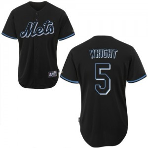 Men's Majestic David Wright New York Mets Authentic Black Fashion Jersey