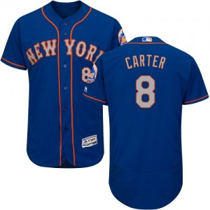 Men's Majestic Gary Carter New York Mets Authentic Royal/Gray Flexbase Collection Jersey