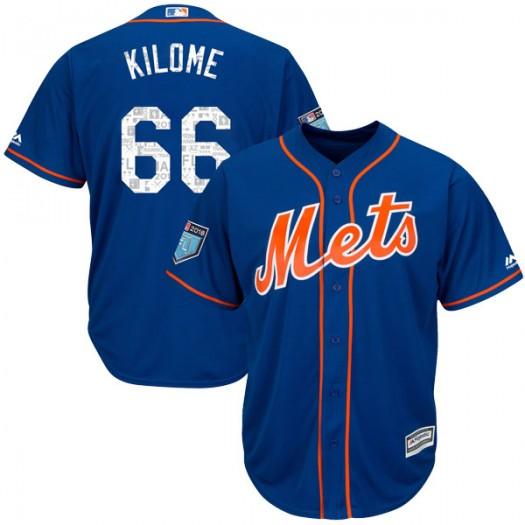 Men's Majestic Franklyn Kilome New York Mets Authentic Royal Cool Base 2018 Spring Training Jersey