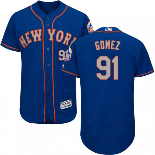 Men's Majestic Carlos Gomez New York Mets Authentic Royal/Gray Flex Base Alternate Collection Jersey