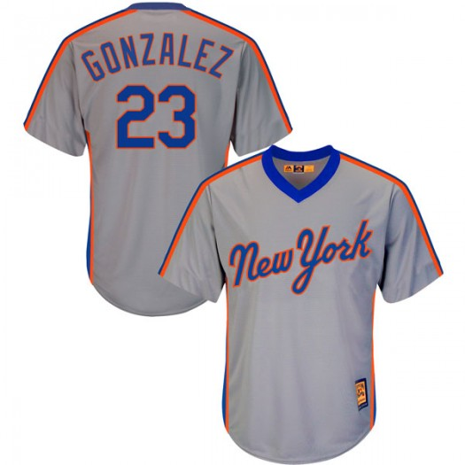 Youth Majestic Adrian Gonzalez New York Mets Player Authentic Gray Cool Base Cooperstown Collection Jersey