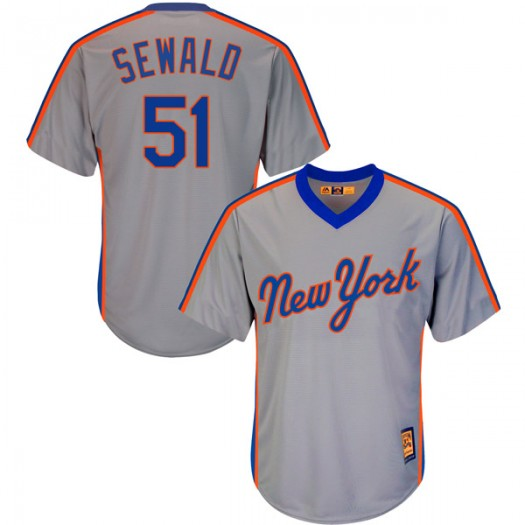 Youth Majestic Paul Sewald New York Mets Authentic Gray Cool Base Cooperstown Collection Jersey
