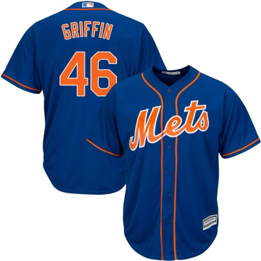 Youth Majestic A.J. Griffin New York Mets Player Authentic Royal Blue Cool Base Alternate Jersey