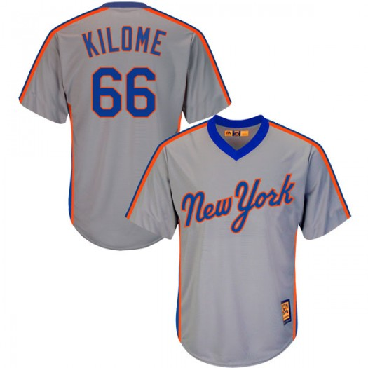 Men's Majestic Franklyn Kilome New York Mets Authentic Gray Cool Base Cooperstown Collection Jersey