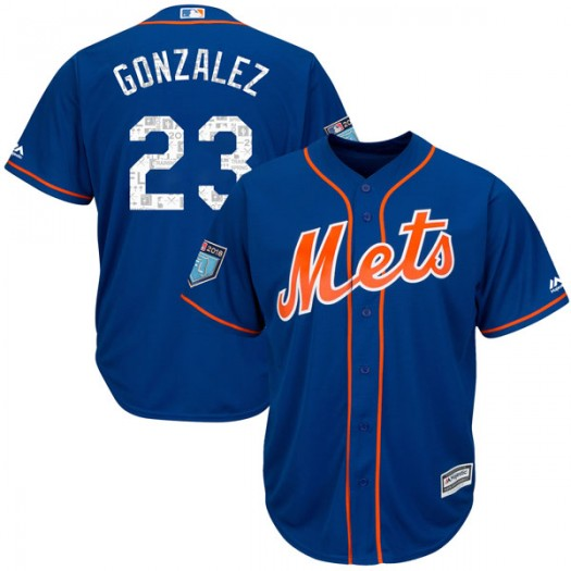 Youth Majestic Adrian Gonzalez New York Mets Player Replica Royal Cool Base 2018 Spring Training Jersey