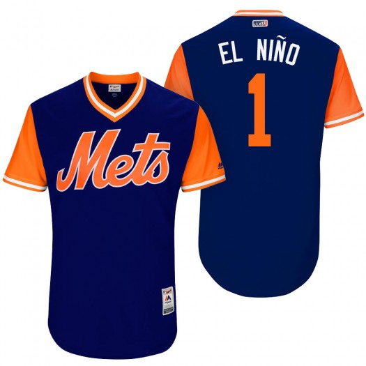 "Men's Amed Rosario New York Mets Player Authentic Royal ""El Nino"" 2017 Players Weekend Jersey"
