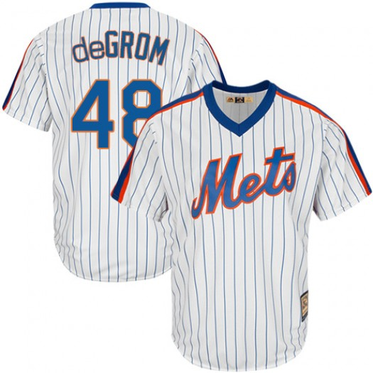 Men's Majestic Jacob deGrom New York Mets Player Authentic White Jacob DeGrom Cooperstown Jersey